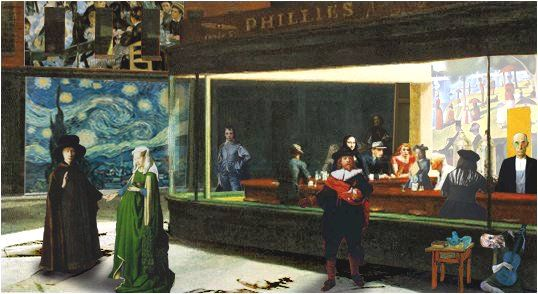 Nighthawks forever 19 april 2009 for Diner artwork